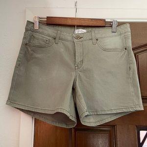 Jessica Simpson sage green high waisted shorts